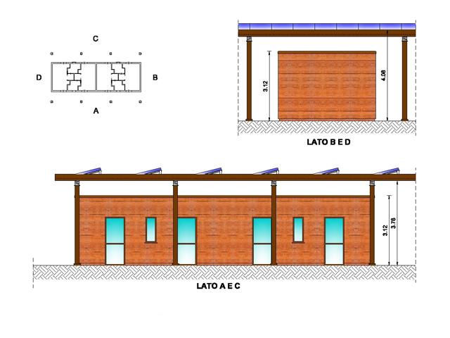 Prospetti edificio tipo destinato ad alloggi
